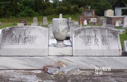 LADNER, HONORINE - Hancock County, Mississippi   HONORINE LADNER - Mississippi Gravestone Photos