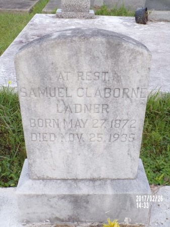 LADNER, SAMUEL CLABORNE - Hancock County, Mississippi | SAMUEL CLABORNE LADNER - Mississippi Gravestone Photos