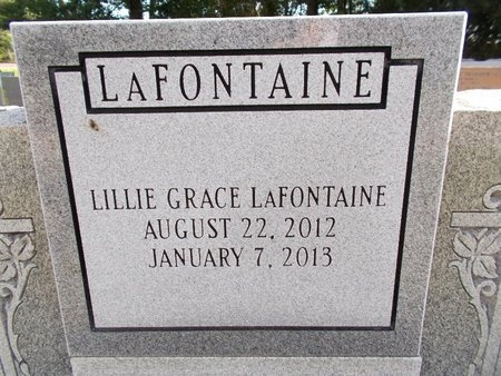 LAFONTAINE, LILLIE GRACE (CLOSE UP) - Hancock County, Mississippi | LILLIE GRACE (CLOSE UP) LAFONTAINE - Mississippi Gravestone Photos