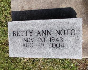 NOTO, BETTY ANN - Hancock County, Mississippi   BETTY ANN NOTO - Mississippi Gravestone Photos