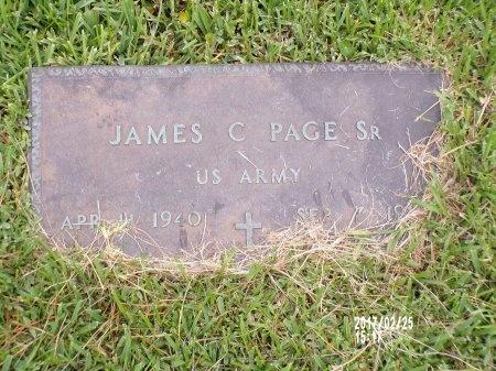 PAGE (VETERAN), JAMES C., SR (NEW) - Hancock County, Mississippi | JAMES C., SR (NEW) PAGE (VETERAN) - Mississippi Gravestone Photos