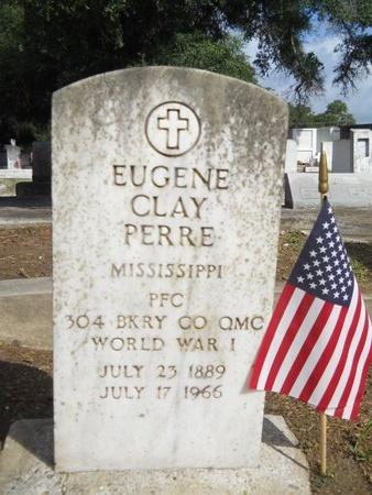 PERRE (VETERAN WWI), EUGENE CLAY (NEW) - Hancock County, Mississippi   EUGENE CLAY (NEW) PERRE (VETERAN WWI) - Mississippi Gravestone Photos