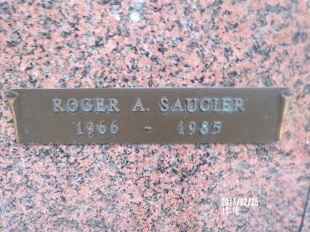 SAUCIER, ROGER A - Hancock County, Mississippi | ROGER A SAUCIER - Mississippi Gravestone Photos