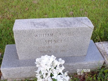 SPENCE, WILLIAM ARGILL - Hancock County, Mississippi | WILLIAM ARGILL SPENCE - Mississippi Gravestone Photos