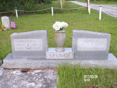 SPENCE, WILLIAM G - Hancock County, Mississippi | WILLIAM G SPENCE - Mississippi Gravestone Photos