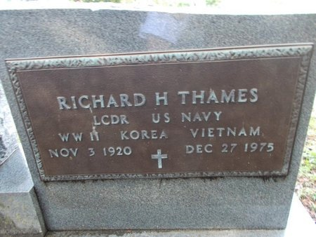 THAMES (VETERAN 3 WARS), RICHARD H (NEW) - Hancock County, Mississippi | RICHARD H (NEW) THAMES (VETERAN 3 WARS) - Mississippi Gravestone Photos