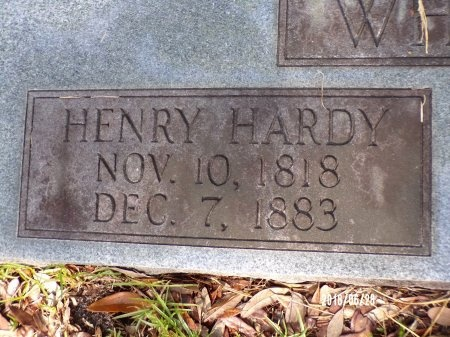 WHICHARD, HENRY HARDY (CLOSE UP) - Hancock County, Mississippi | HENRY HARDY (CLOSE UP) WHICHARD - Mississippi Gravestone Photos