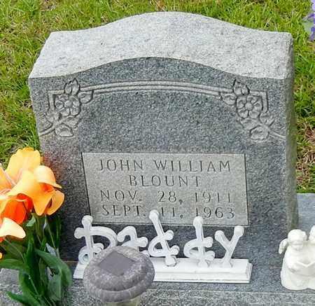 BLOUNT (CLOSE UP), JOHN WILLIAM - Jefferson Davis County, Mississippi   JOHN WILLIAM BLOUNT (CLOSE UP) - Mississippi Gravestone Photos