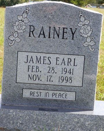 RAINEY, JAMES EARL - Lee County, Mississippi   JAMES EARL RAINEY - Mississippi Gravestone Photos