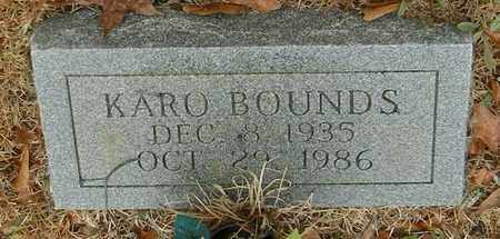BOUNDS, KARO - Marion County, Mississippi | KARO BOUNDS - Mississippi Gravestone Photos