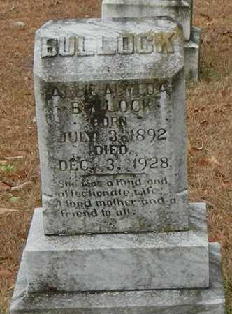 BULLOCK, ALLIE ALMEDA - Marion County, Mississippi | ALLIE ALMEDA BULLOCK - Mississippi Gravestone Photos