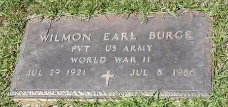 BURGE (VETERAN WWII), WILMON EARL - Pearl River County, Mississippi | WILMON EARL BURGE (VETERAN WWII) - Mississippi Gravestone Photos