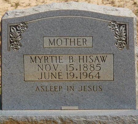 HISAW, MYRTIE B - Prentiss County, Mississippi   MYRTIE B HISAW - Mississippi Gravestone Photos