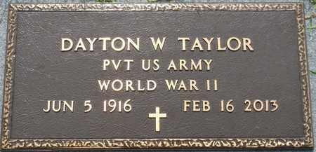 TAYLOR (VETERAN WWII), DAYTON W - Prentiss County, Mississippi | DAYTON W TAYLOR (VETERAN WWII) - Mississippi Gravestone Photos