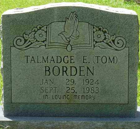 "BORDEN, TALMADGE E. ""TOM"" - Tishomingo County, Mississippi 