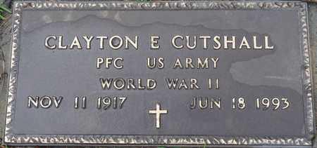 CUTSHALL (VETERAN WWII), CLAYTON E - Tishomingo County, Mississippi | CLAYTON E CUTSHALL (VETERAN WWII) - Mississippi Gravestone Photos