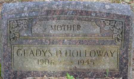 HOLLOWAY, GLADYS D - Tishomingo County, Mississippi   GLADYS D HOLLOWAY - Mississippi Gravestone Photos