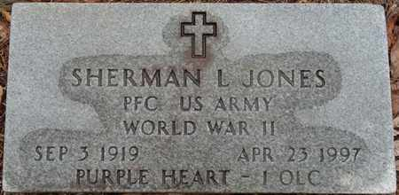 JONES (VETERAN WWII), SHERMAN L - Tishomingo County, Mississippi   SHERMAN L JONES (VETERAN WWII) - Mississippi Gravestone Photos