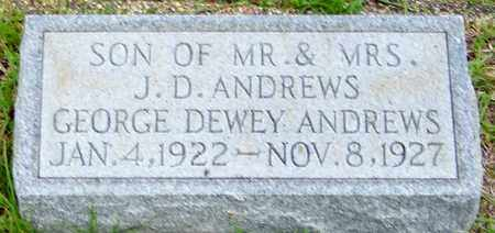 ANDREWS, GEORGE DEWEY - Walthall County, Mississippi | GEORGE DEWEY ANDREWS - Mississippi Gravestone Photos