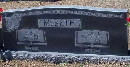 MCBETH, MAMIE B - Walthall County, Mississippi | MAMIE B MCBETH - Mississippi Gravestone Photos