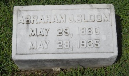 BLOOM, ABRAHAM J - Warren County, Mississippi | ABRAHAM J BLOOM - Mississippi Gravestone Photos