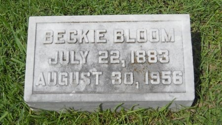 BLOOM, BECKIE - Warren County, Mississippi | BECKIE BLOOM - Mississippi Gravestone Photos