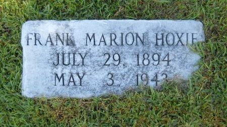 HOXIE, FRANK MARION - Warren County, Mississippi | FRANK MARION HOXIE - Mississippi Gravestone Photos