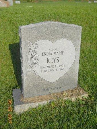 KEYS, ENDIA MARIE - Warren County, Mississippi   ENDIA MARIE KEYS - Mississippi Gravestone Photos