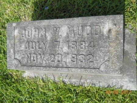 MUDD, JOHN W - Warren County, Mississippi | JOHN W MUDD - Mississippi Gravestone Photos