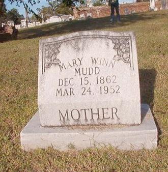 MUDD, MARY - Warren County, Mississippi | MARY MUDD - Mississippi Gravestone Photos