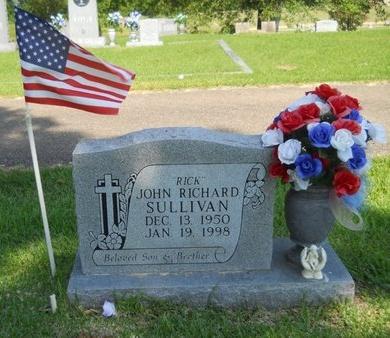 "SULLIVAN, JOHN RICHARD ""RICK"" - Warren County, Mississippi | JOHN RICHARD ""RICK"" SULLIVAN - Mississippi Gravestone Photos"