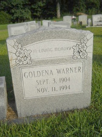 WARNER, GOLDENA - Warren County, Mississippi | GOLDENA WARNER - Mississippi Gravestone Photos