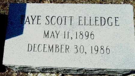 SCOTT ELLEDGE, FAYE - Washington County, Mississippi   FAYE SCOTT ELLEDGE - Mississippi Gravestone Photos