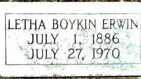 BOYKIN ERWIN, LETHA - Washington County, Mississippi   LETHA BOYKIN ERWIN - Mississippi Gravestone Photos