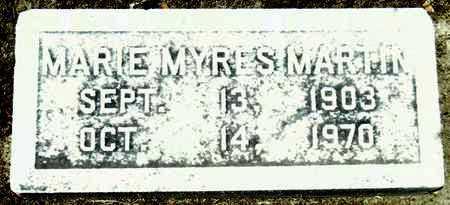 MYRES MARTIN, MARIE - Washington County, Mississippi | MARIE MYRES MARTIN - Mississippi Gravestone Photos
