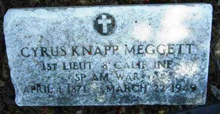 MEGGETT (VETERAN SAW), CYRUS KNAPP (NEW) - Washington County, Mississippi | CYRUS KNAPP (NEW) MEGGETT (VETERAN SAW) - Mississippi Gravestone Photos