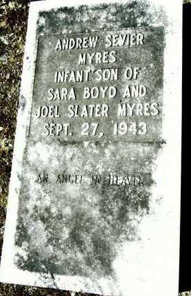 MYRES, ANDREW SEVIER - Washington County, Mississippi   ANDREW SEVIER MYRES - Mississippi Gravestone Photos