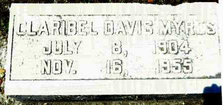 DAVIS MYRES, CLARIBEL - Washington County, Mississippi | CLARIBEL DAVIS MYRES - Mississippi Gravestone Photos