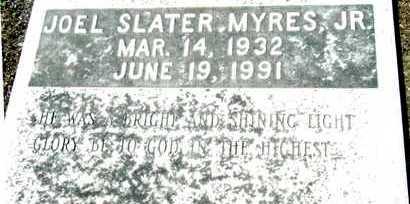 MYRES, JR, JOEL SLATER - Washington County, Mississippi | JOEL SLATER MYRES, JR - Mississippi Gravestone Photos