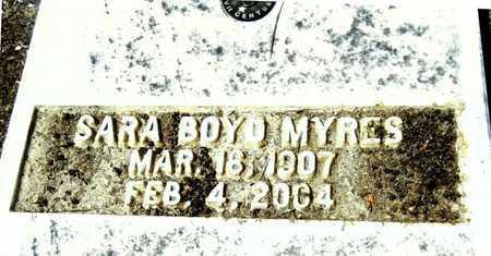 MYRES, SARA - Washington County, Mississippi | SARA MYRES - Mississippi Gravestone Photos