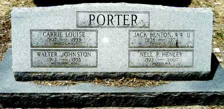 PORTER, WALTER JOHNSTON - Washington County, Mississippi | WALTER JOHNSTON PORTER - Mississippi Gravestone Photos