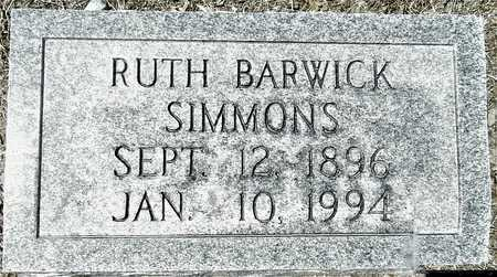 BARWICK SIMMONS, RUTH - Washington County, Mississippi | RUTH BARWICK SIMMONS - Mississippi Gravestone Photos
