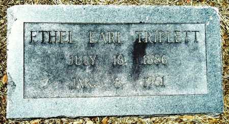 EARL TRIPLETT, ETHEL - Washington County, Mississippi | ETHEL EARL TRIPLETT - Mississippi Gravestone Photos