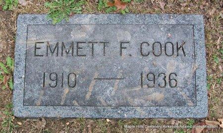 COOK, EMMETT F - Adair County, Missouri | EMMETT F COOK - Missouri Gravestone Photos
