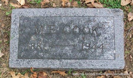 COOK, MILES EDGAR - Adair County, Missouri | MILES EDGAR COOK - Missouri Gravestone Photos