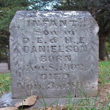 DANIELSON, INFANT SON - Adair County, Missouri | INFANT SON DANIELSON - Missouri Gravestone Photos