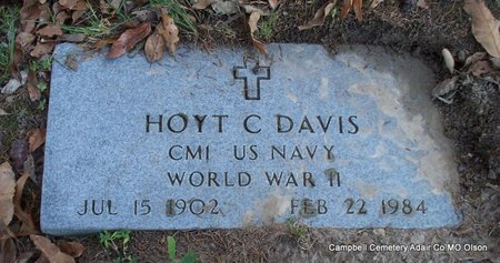 DAVIS, HOYT C (VETERAN WWII) - Adair County, Missouri | HOYT C (VETERAN WWII) DAVIS - Missouri Gravestone Photos