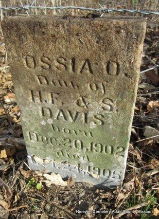 DAVIS, OSSIA O - Adair County, Missouri   OSSIA O DAVIS - Missouri Gravestone Photos