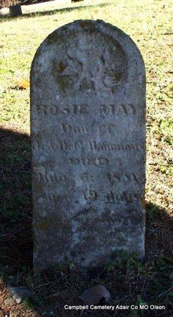 HAMMONS, ROSIE MAY - Adair County, Missouri | ROSIE MAY HAMMONS - Missouri Gravestone Photos