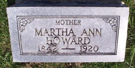 HOWARD, MARTHA ANN - Adair County, Missouri | MARTHA ANN HOWARD - Missouri Gravestone Photos